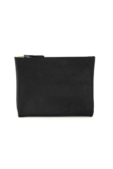 ARA Handbags Clutch No. 4 (Black Oil Tanned)