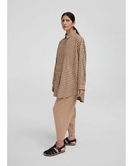 Monica Cordera Checkered Shirt - Breen