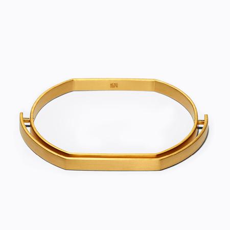 Ming Yu Wang Surface Bangle - Gold