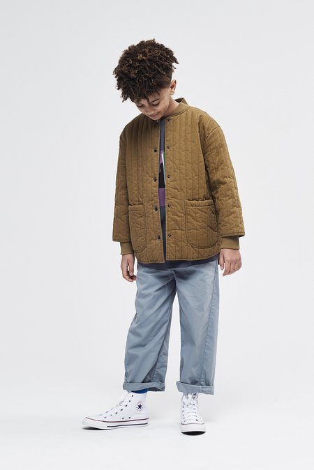 Kids unisex Main Story Quilted Jacket - Butternut
