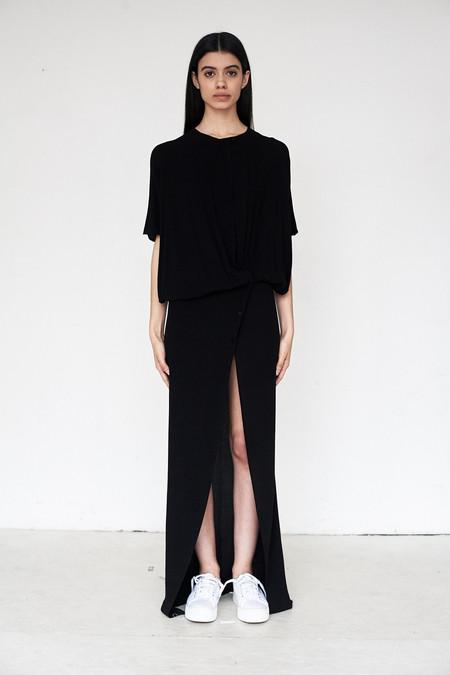 Assembly New York Crepe Twist Split Dress