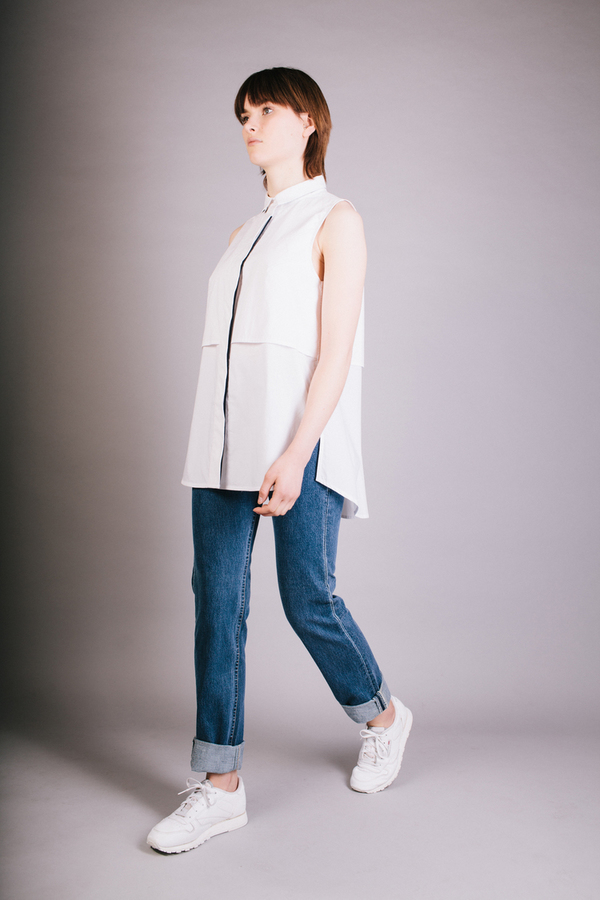 Kara Liu Esgair Sleeveless Shirt