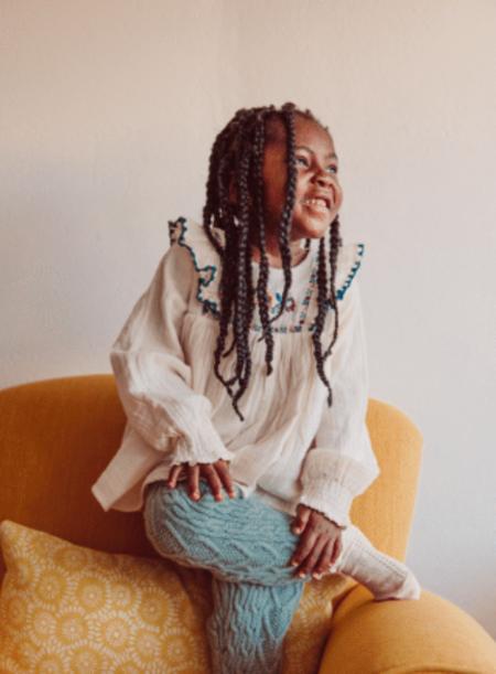 Kids Louise Misha Knit Leggings - Sage