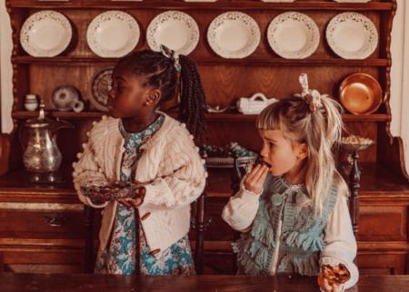 kids Louise Misha Vest - Sage