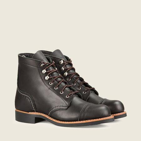 Red Wing Shoes #3366 Iron Ranger Women's Short Boot - Black Boundary Leather