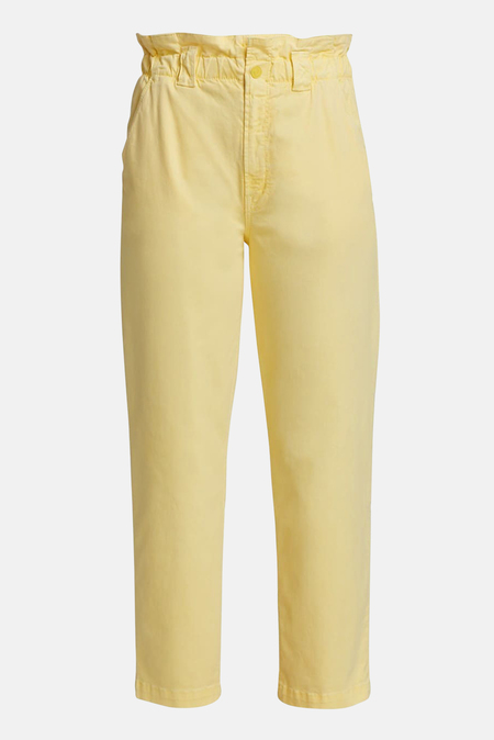 Mother Denim Yoyo Ruffle Greaser Ankle Pants - Goldfinch
