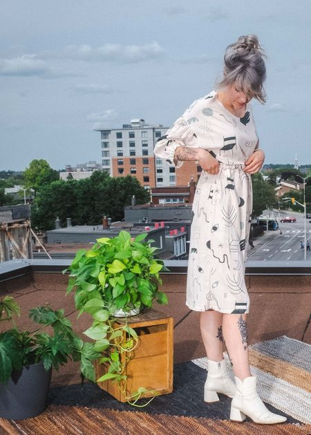 Eve Gravel Prairie Dress