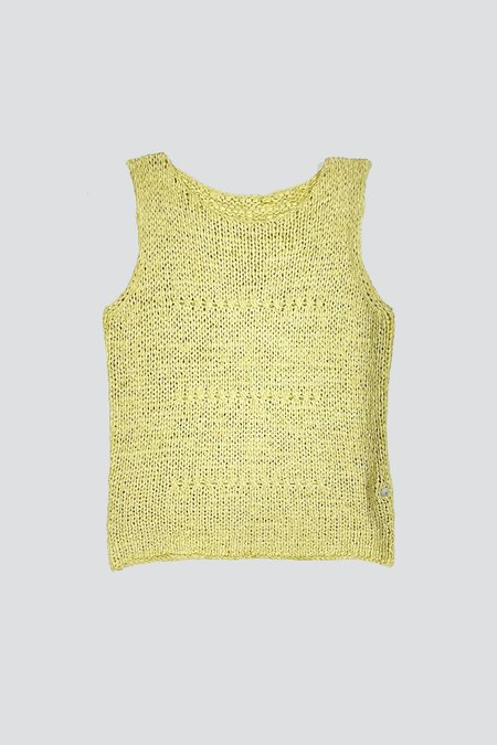 Vintage Cotton Knit Tank - Lime