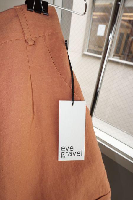 Pre-Loved Eve Gravel Opera Shorts - Terracotta