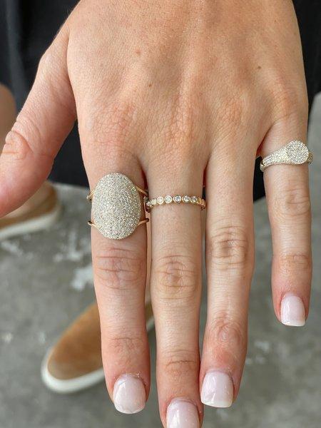 EF Collection Diamond Jumbo Oval Ring - 14K YELLOW GOLD