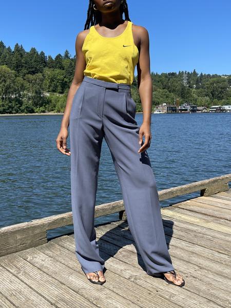 Vintage Wool Trousers - Slate