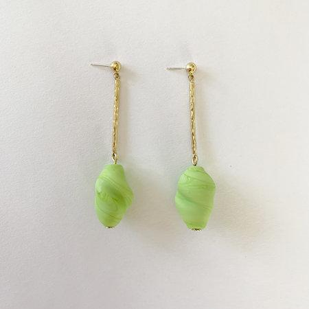 Crescioni oliva earrings - lime