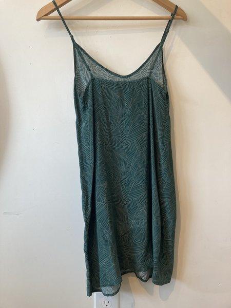 Morningtide loop Ali Golden Silk Slip Dress - Green