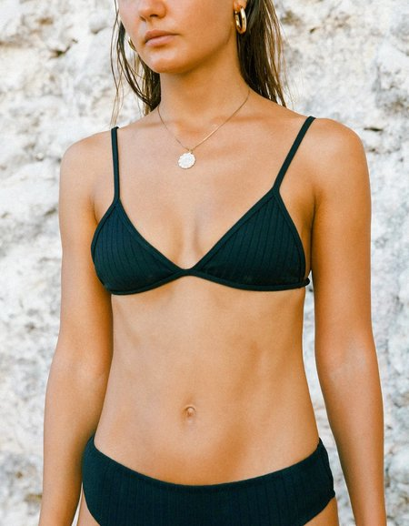 Static Swimwear Sunset Top - Black Rib