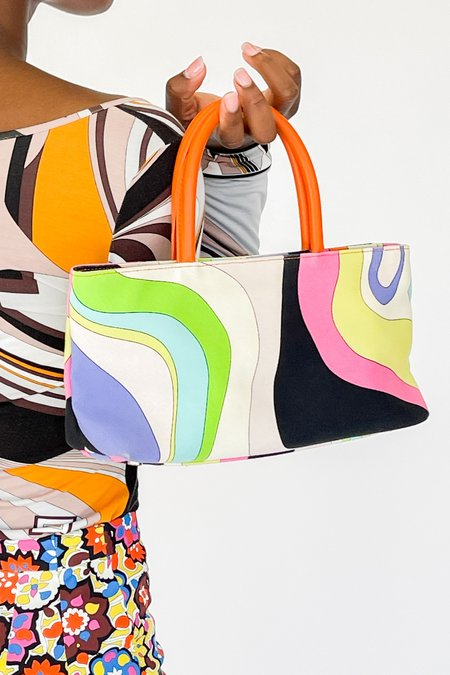 Vintage Pucci Psychedelic Wavy Mini Purse bag - multi