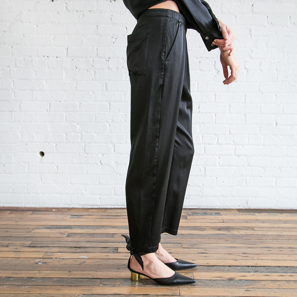 Raquel Allegra Relaxed Pant Black