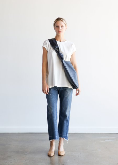 Mijeong Park Faux Leather Ollie Bag - Navy