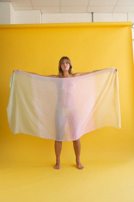 Vintage WOLF & GYPSY VINTAGE 1990s scarf - Pastel Sarong
