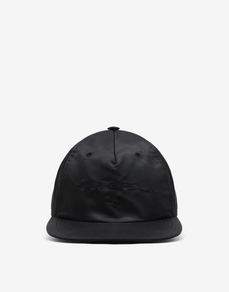 MM6 Maison Margiela Nylon Logo Ball Cap - Black