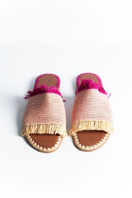 Proud Mary Footwear Raffia Fringe Slide