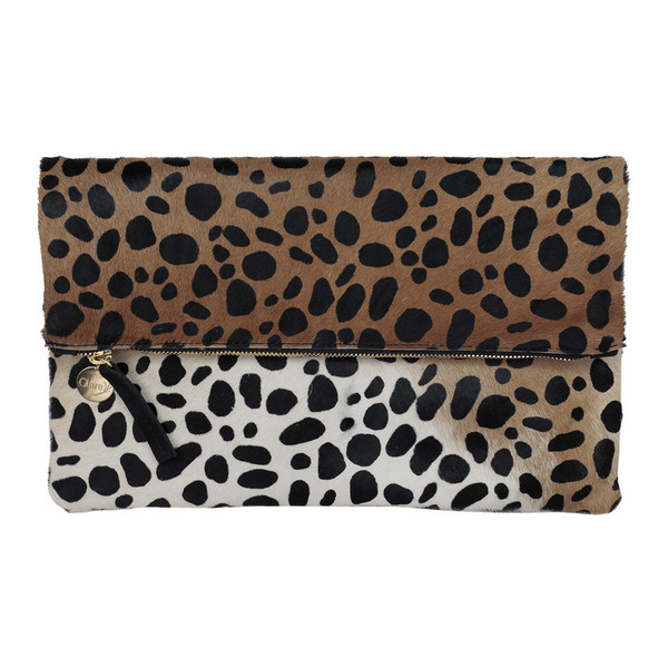 Clare V. Foldover Clutch Leopard