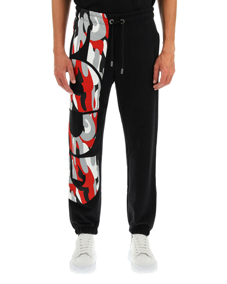 GCDS Trousers with Logo - Black