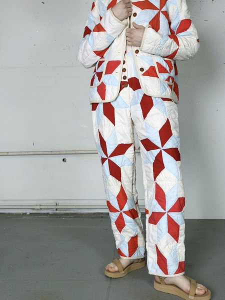 Marvin Ruby Eight Pointed Star Quilted Pant