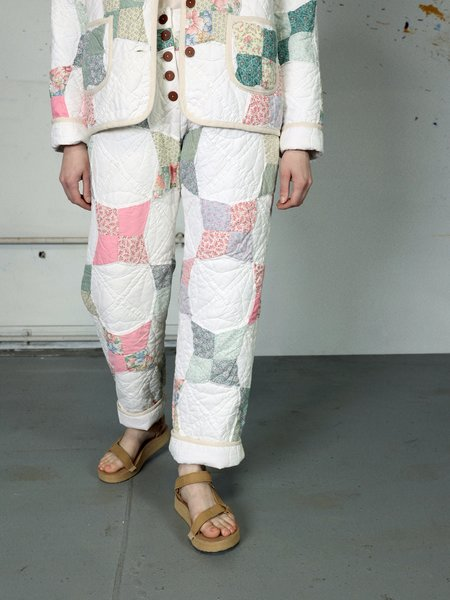 Marvin Ruby Four Pointed Star Quilted Pant