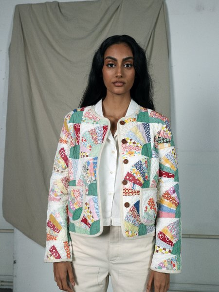Marvin Ruby Rainbow Fan Quilted Jacket