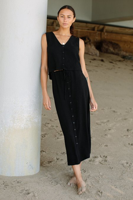 Rachel Pally Linen Aly Tank - black