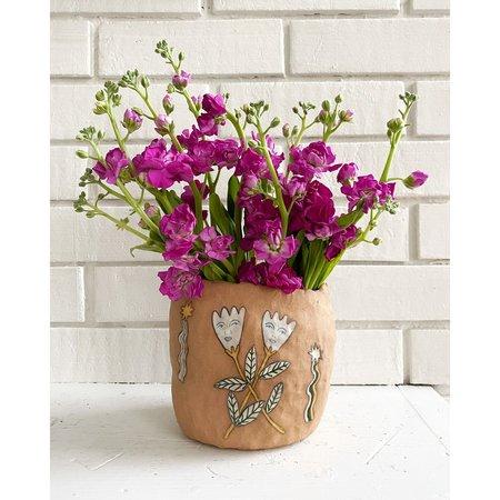 Erina Pearl Botanical Buddies Vase - brown