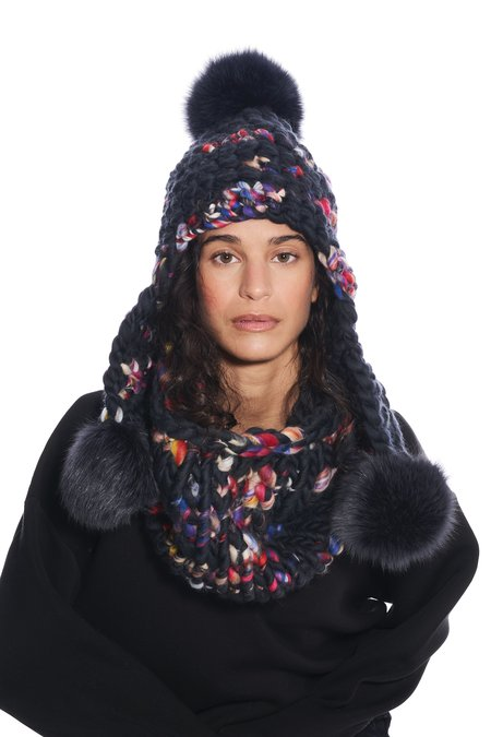 Mischa Lampert large snood scarf - dark twombly