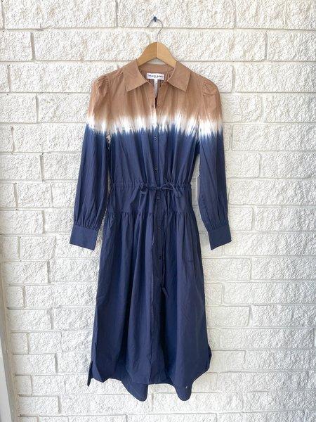 Apiece Apart Zabeta Shirt Dress - Dipped Shibori