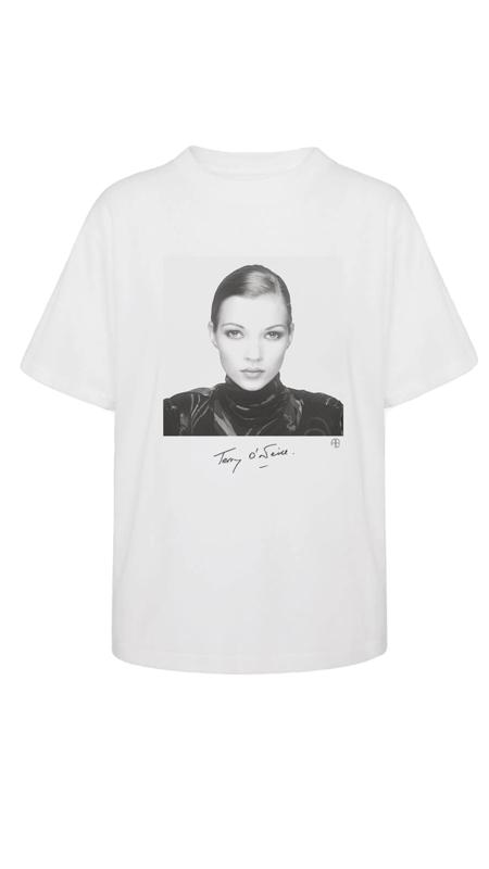 Anine Bing AB X TO Kate Moss Ida Tee - white