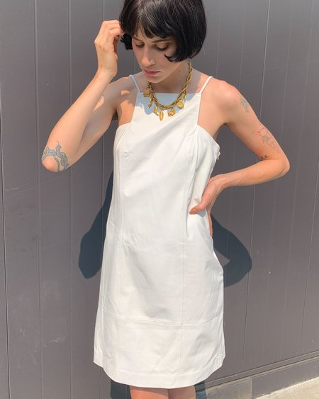 Vintage Leather Dress - White