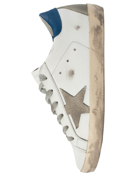 Golden Goose  Superstar Leather Sneakers - White and Blue