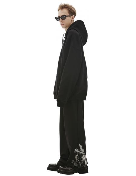 Vetements Printed Hoodie - Black
