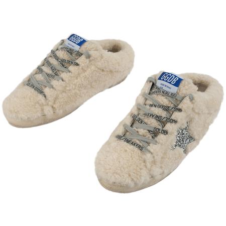 Golden Goose Superstar Natural Shearling Sneaker - Beige