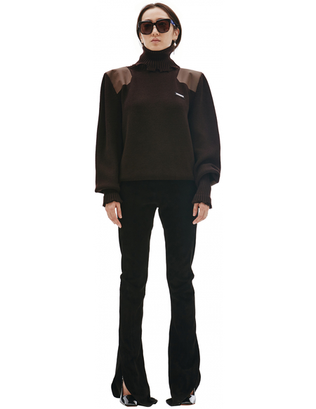Vetements Wool Destroyed Turtleneck Sweater - Brown