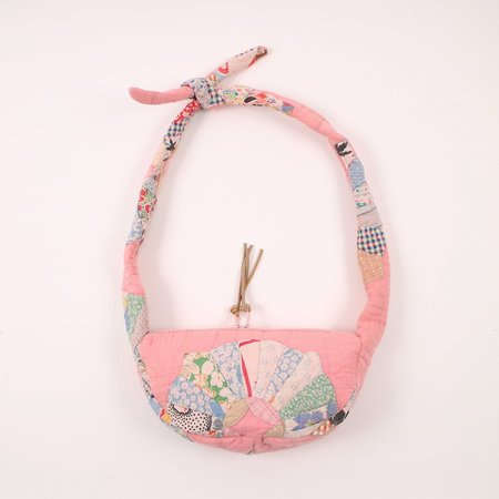 Erin Templeton quilted sling bag - pink allover quilt