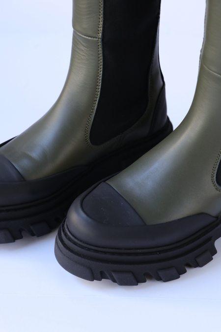 Ganni High Chelsea Boot - Kalamata