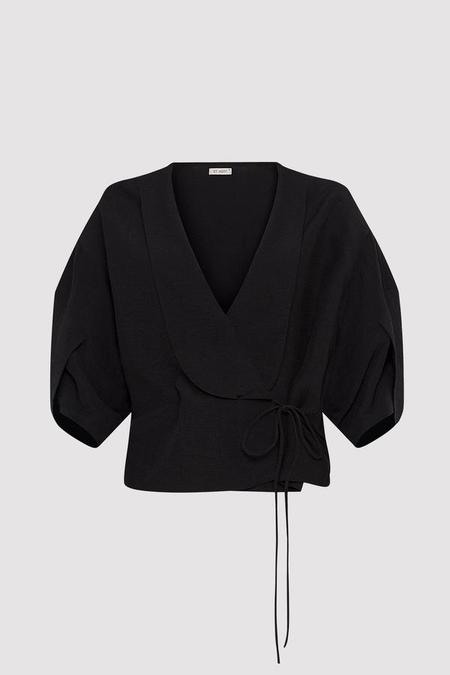 St. Agni Mor Kimono Top - Black