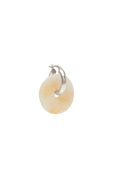 SVNR Earring Pi Mid Hoop - Blonde Agate