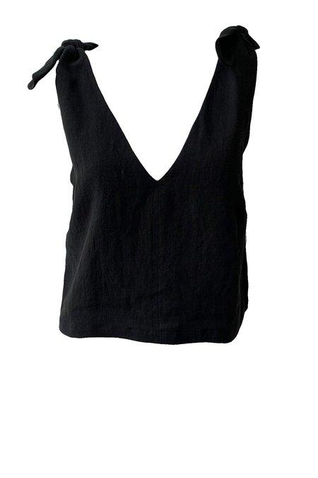 Emerson Fry Tie Shoulder Mod Top - Black