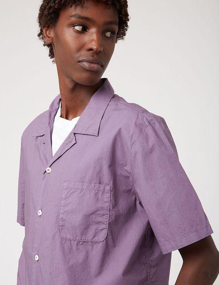 Bhode Revere Collar Shirt - Purple