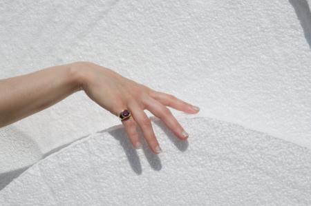 unisex Luiny CZ Mondrian Ring - pink