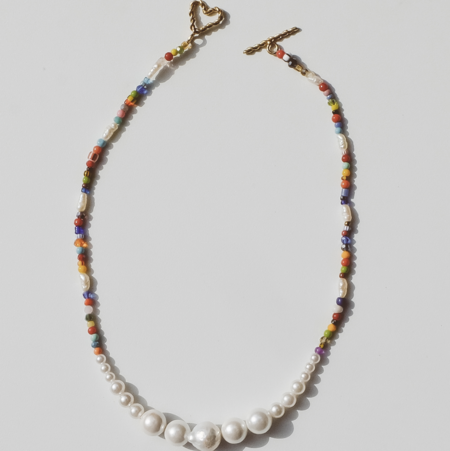 Luiny Simple Pearl Necklace - Multicolor