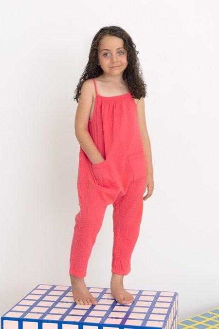 Kids North Of West Double Cloth Jumpsuit - Azalea