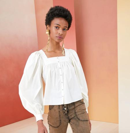 ulla johnson amaris blanc blouse - White