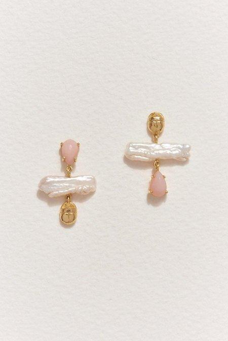 Pamela Love Biwa Pearl Earrings - Gold